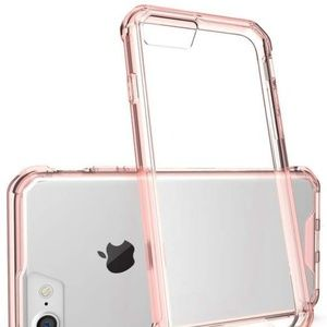 iPhone 8 7 Case Hybrid Slim Grip Clear Back Pink